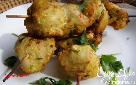 Рецепт Куриные шашлычки с кунжутом