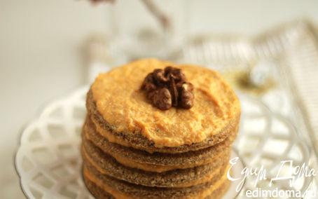 Рецепт Песочное пирожное с тыквенным кремом