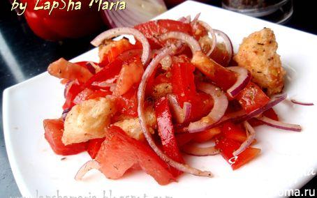 Рецепт Панцанелла - классический итальянский салат с хлебом