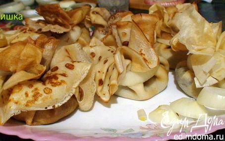 Рецепт Блинные мешочки с грибами