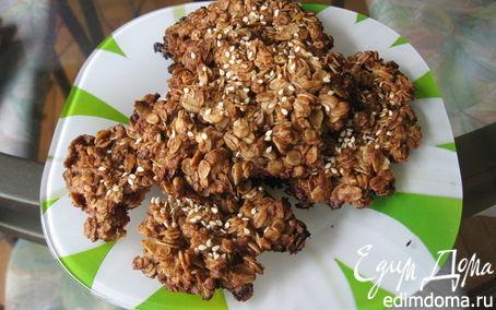 Рецепт Вкусное овсяное печенье без муки и яиц