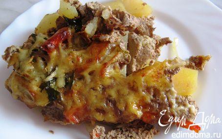 Рецепт Картофель, запеченный с овощами в паштете из куриной печени