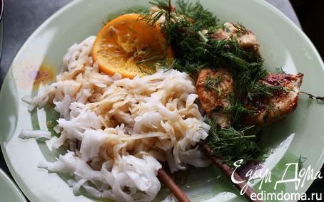 Рецепт Курица с тимьяном, розмарином, майораном и апельсинами