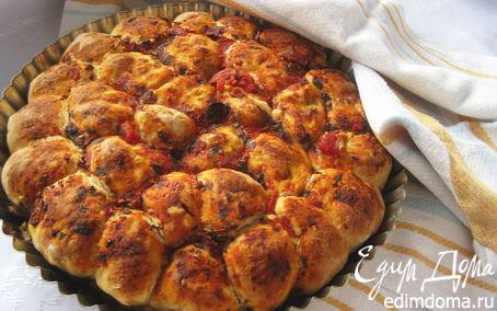 Рецепт Фокачча из шариков с сыром и оливками