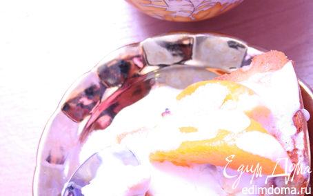 Рецепт Персиковый сметанный пирог