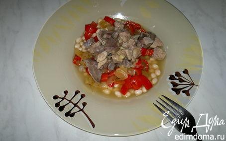 Рецепт Имбирная фасолевая похлебка с мясом птицы и овощами