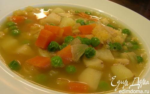 Рецепт Легкий гороховый суп с сельдереем (постный)