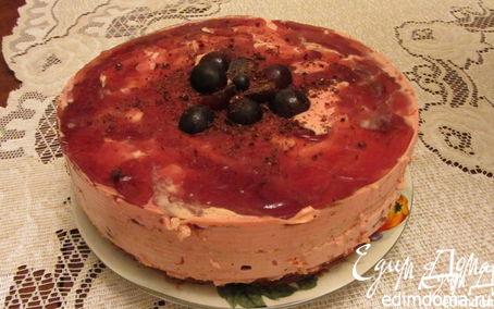 Рецепт Виноградный торт с винным кремом
