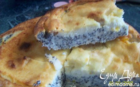 Рецепт Творожная запеканка с яблоками и маком