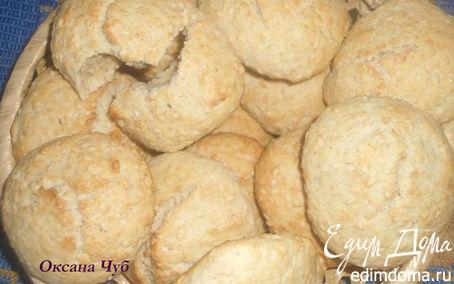 Рецепт Овсяно-кунжутные печеньки или полезный полдник