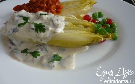 Рецепт Цикорий с томатным и грибным соусами