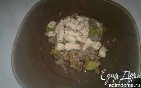 Рецепт Гречка с кабачком, луком и грудкой индейки