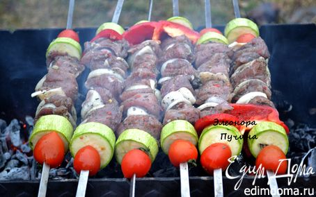Рецепт Шашлык с овощами + картошка