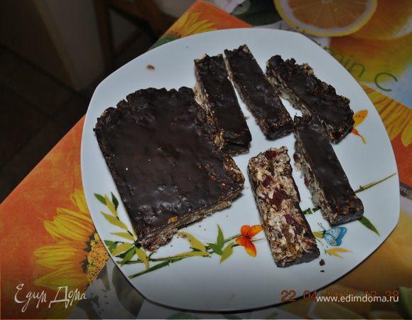Быстрые мюсли с шоколадной глазурью