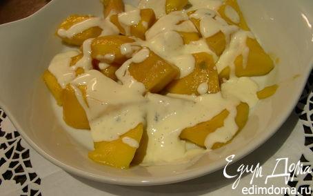 Рецепт Манго в ванильном креме