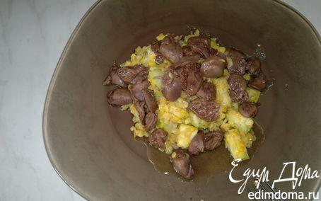 Рецепт Чечевица с кабачком, чеснок с сердцем кролика