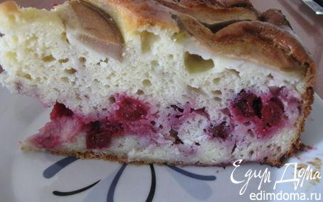 Рецепт Пирог с вишней и грушами