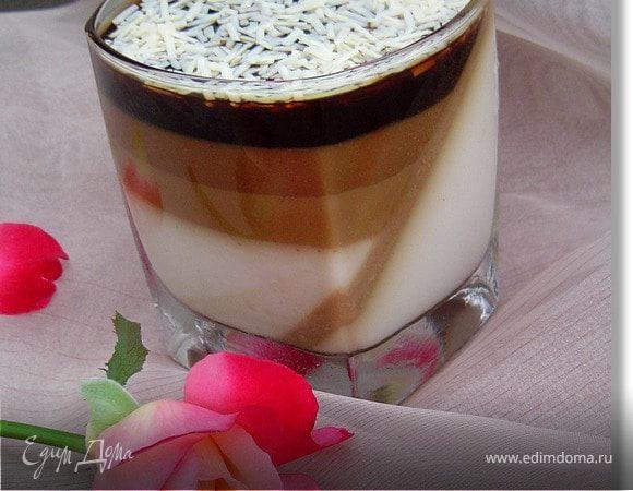 Шоколадно-желейный десерт