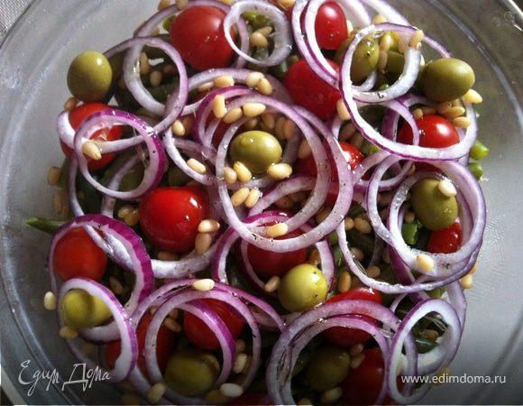 рецепт овощного салата с тунцом