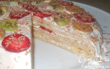 Рецепт Блинный тортик для Черешенки