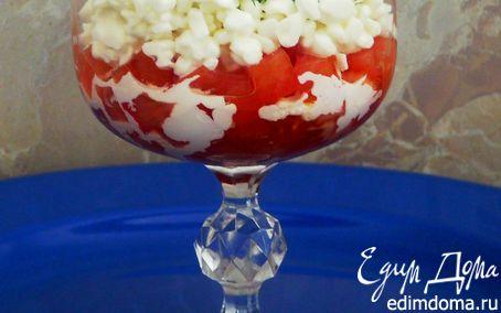 Рецепт Тартар из помидоров с зерненым творогом