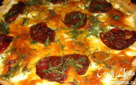 Рецепт Овощной пирог с колбасой