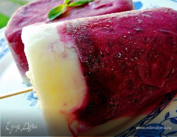 Черносмородиновое мороженое с йогуртом