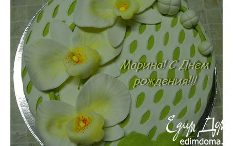 Рецепт Торт с орхидеями