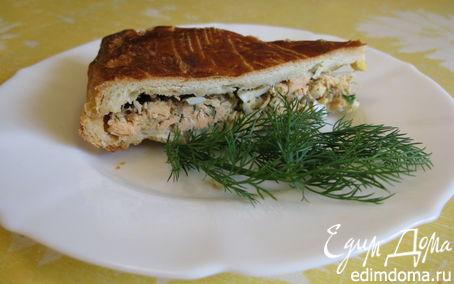 Рецепт Рыбный слоеный пирог