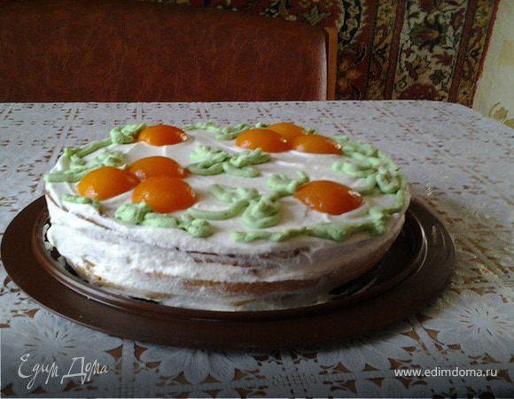 Бисквитный торт со вкусом из детства
