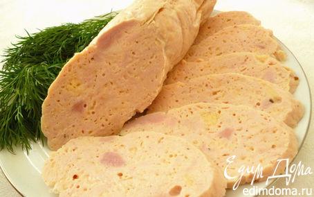 Рецепт Вареная куриная колбаска(вариант №2)