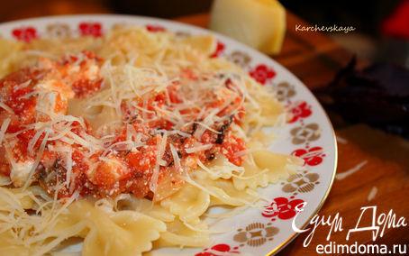 Рецепт Паста с томатами, базиликом и фетой