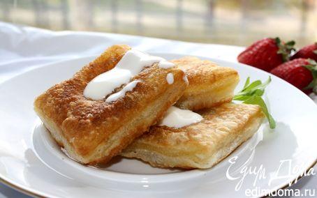 Рецепт Десертные равиоли со сливочным кремом