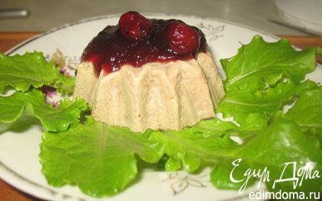 Рецепт Печеночный пудинг с вишневым соусом