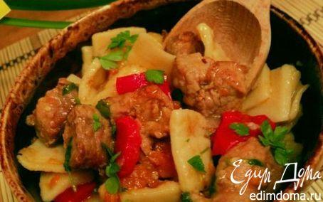 Рецепт Душенина с овощами и галушками