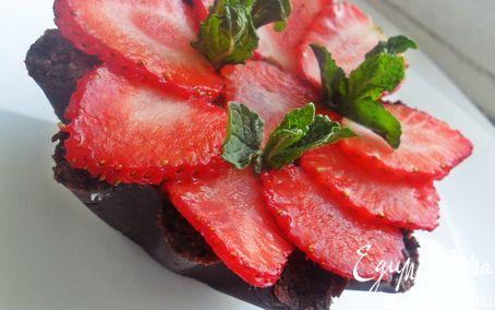 Рецепт Корзиночки с шоколадным кремом и клубникой