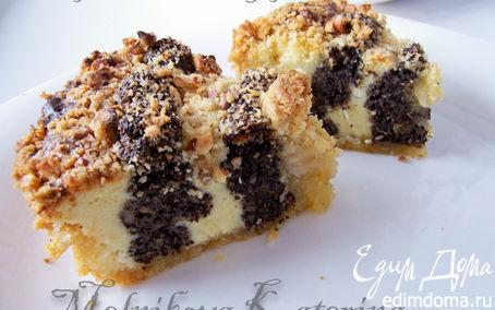 Рецепт Нежный маково-творожный пирог