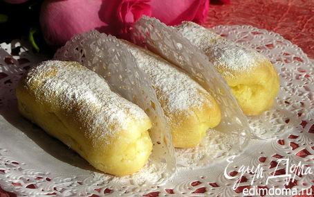 Рецепт Эклеры с лимонным заварным кремом