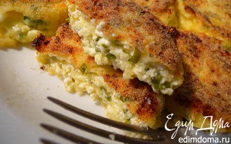 Рецепт Сырники с твердым сыром и зеленью