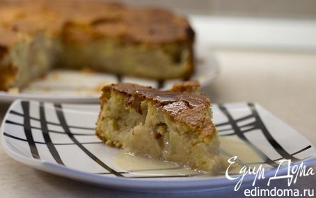 Рецепт Заварной кукурузный пирог с яблоками