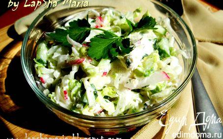 Рецепт Капустный салат с заправкой из феты