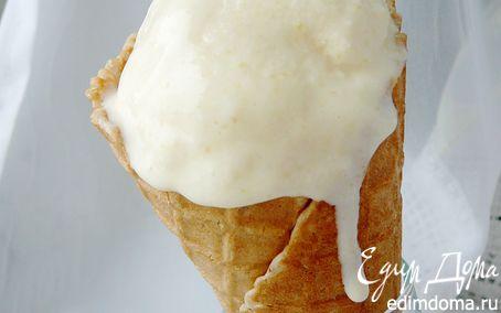 Рецепт Мороженое из консервированных персиков