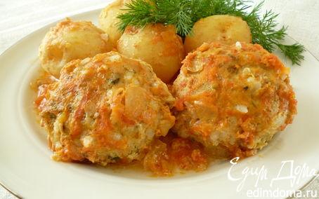 Рецепт Куриные тефтельки, запеченные с молодым картофелем