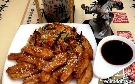 Рецепт Курица Якинику с рисом и овощами