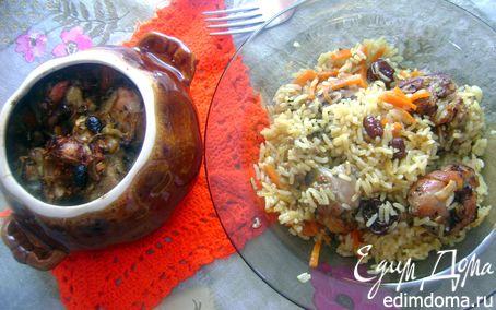 Рецепт Курица с рисом в горшочке