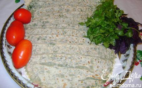 Рецепт Гутабы с зеленью (Азербайджанская кухня)