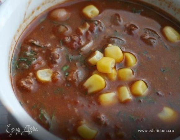 Суп с перцем чили и шоколадом