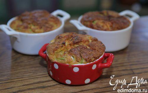 Рецепт Маффины с кабачком, фетой и зеленым луком