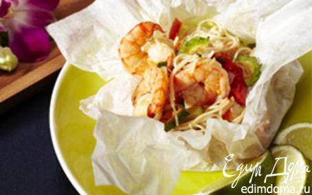 Рецепт Королевские креветки в кисло-сладком соусе по-тайски в пароварке