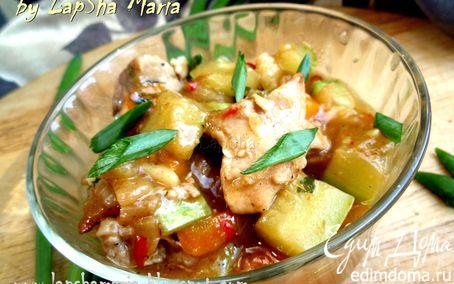Рецепт Мясное рагу с молодыми овощами